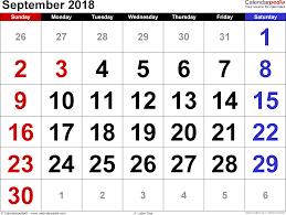 Calendar 2018 Ai Template September 2018 Calendar Template Printable 2017 Calendars