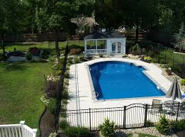 above ground pool landscaping ideas with small gazebo small living