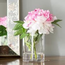 peony arrangement ophelia co pink single stem peony in water flower arrangement