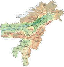 India Geography Map by Himalayas Himalayan Ranges Pmf Ias
