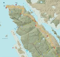 Map Of The World Bc by Sunshine Coast Trail Maps Powell River Bc Canada