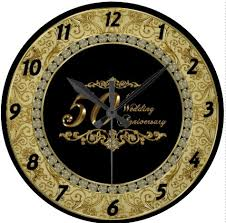 anniversary clock gifts 50th wedding anniversary clock gift ideas bethmaru
