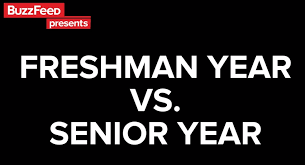 Senior Year Meme - video college freshman year vs senior year