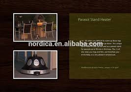 Parasol Electric Patio Heater Electric Parasol Stand Fan Heater Outdoor Garden Table Heater