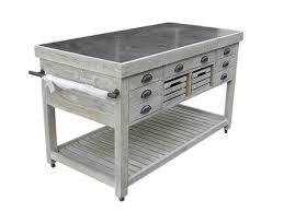 solid wood kitchen island solid wood amp zinc top kitchen island reclaimed wood kitchen solid