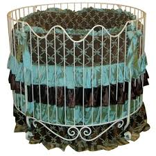 addison scroll round iron crib in choice of finish and nursery
