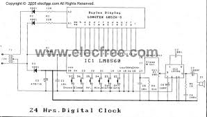 digital clock circuit with alarm by lm8560