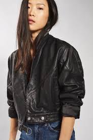 crop leather jacket oasis amor fashion