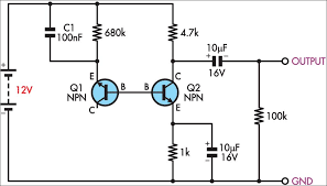 simple white noise generator circuit diagram electrical