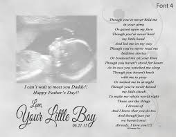 father u0027s day gift for expecting dad from unborn baby personalized