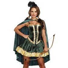 Female Robin Halloween Costume Robin Hood Medieval Huntress Costume N11911