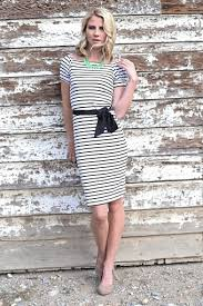 50s alexis black and white striped dress