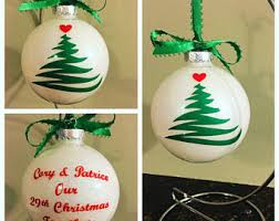 personalized glass ball ornament etsy