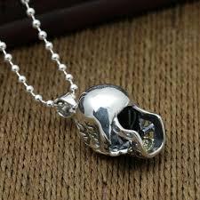 skull pendant necklace images Men 39 s sterling silver skull pendant necklace jpg