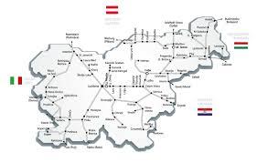 Zagreb Map Slovenske železnice Map Of Slovenian Rail Network Slovenske