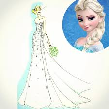 elsa wedding dress want a frozen wedding dress disney and alfred angelo just created