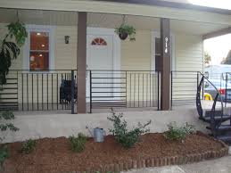 metal porch railing porch traditional with custom railings front