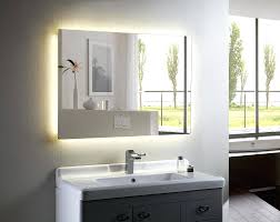 backlit bathroom vanity mirror backlit bathroom vanity mirror home design ideas and pictures