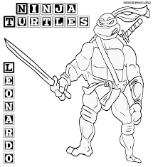 leo ninja turtle coloring pages coloring