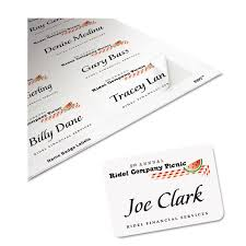 Avery Laser Business Cards Flexible Self Adhesive Laser Inkjet Name Badge Labels By Avery