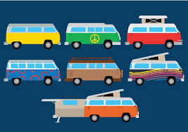 volkswagen van hippie blue vw free vector art 2991 free downloads