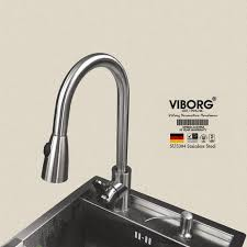pull out sprayer kitchen faucet viborg deluxe 304 stainless steel lead free pull out spray kitchen