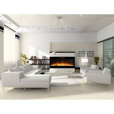 Built In Electric Fireplace Elite Flame 50 Inch Fusion Pebble Built In Smokeless Wall Mounted