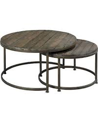 round nesting coffee table sale hammary leone round nesting cocktail tables 563 911
