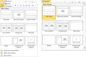 duplicate rename and edit slide layouts in powerpoint 2010 for