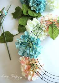 hydrangea wreath easy diy hydrangea wreath burlap bows hydrangea and wreaths