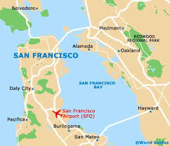 san francisco map california map of san francisco airport sfo orientation and maps for sfo
