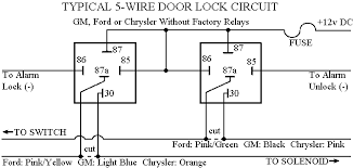 car alarm door lock wiring