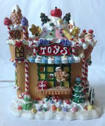 lighted gingerbread store house collectibles