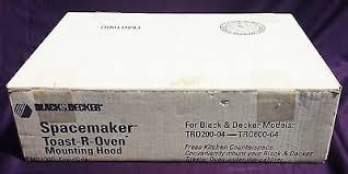 Spacesaver Toaster Oven Black Decker Mounting Hood Spacemaker Spacesaver Toaster Oven