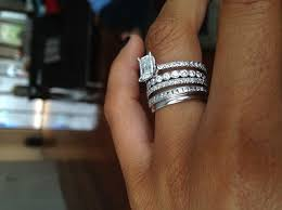 stackable wedding rings best 25 stacked engagement ring ideas on stacked