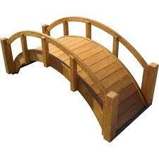 samsgazebos 8 ft treated imperial bridge with 4 extended railings