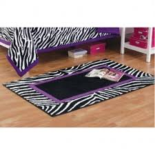 Zebra Print Rug With Pink Trim Pink Animal Print Bedding Foter