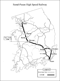 pusan on map map of seoul pusan high speed railway line ktx