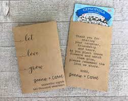 seed packets wedding favors seed wedding favors etsy