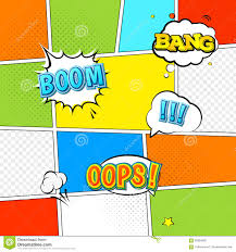 vector mock up of a typical comic book page stock vector image