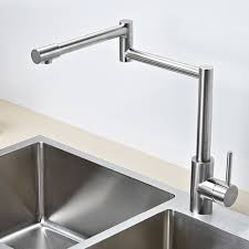 Pot Filler Kitchen Faucet Aliexpress Com Buy Solid Stainless Steel Pot Filler Kitchen Bar