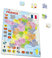 Political Map Of France by A5 France Political Maps Of Countries Puzzles Larsen