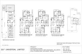 dlf hyde park chandigarh official floor plans of independent floors