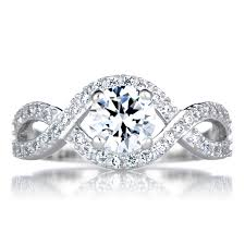 twisted band engagement ring dorothea s cut twisted band cz engagement ring