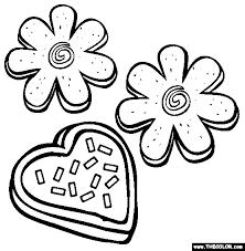Sugar Cookies Coloring Page Free Sugar Cookies Online Coloring Coloring Cookies