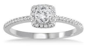 10k wedding ring 1 2 carat halo engagement ring 10k white gold