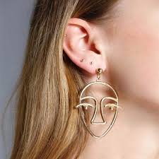 human earrings aliexpress buy exaggerated metal hollow human dangle