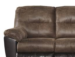 faux leather reclining sofa furnituremaxx follett contemporary coffee color faux leather