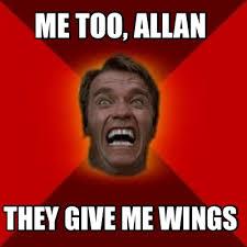 Allan Meme - meme creator me too allan they give me wings meme generator at