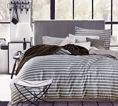 Grey King Size Comforter Set Top Selling King Size Bedding Comforters Classic Gray Stripes